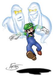 Ghosts chasing Luigi